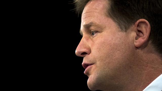 Le chef des Libéraux-Démocrates britanniques Nick Clegg, le 26 septembre 2012 à Brighton [Adrian Dennis / AFP]