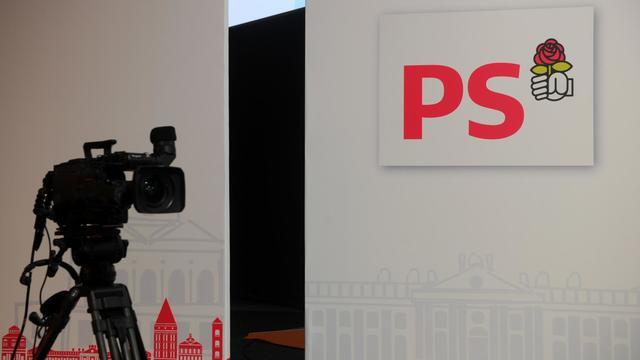 Le logo du PS au congrès de Toulouse [Eric Cabanis / AFP/Archives]
