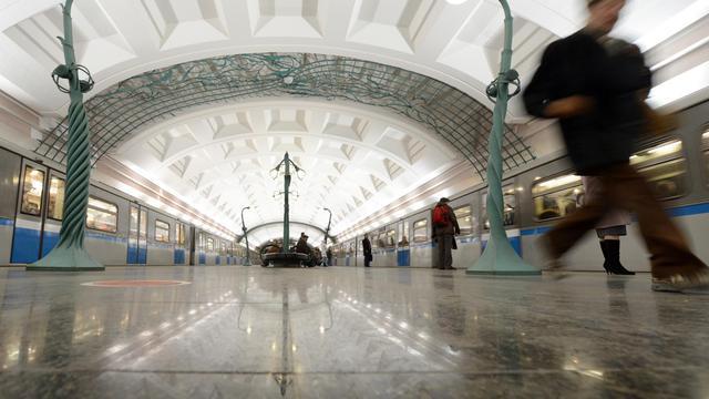 Vue d'une station de métro à Moscou [Kirill Kudryavtsev / AFP/Archives]