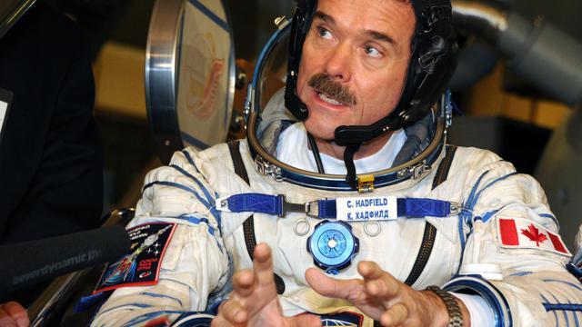L'astronaute canadien Chris Hadfield le 28 novembre 2012 près de Moscou [Alexander Nemenov / AFP/Archives]