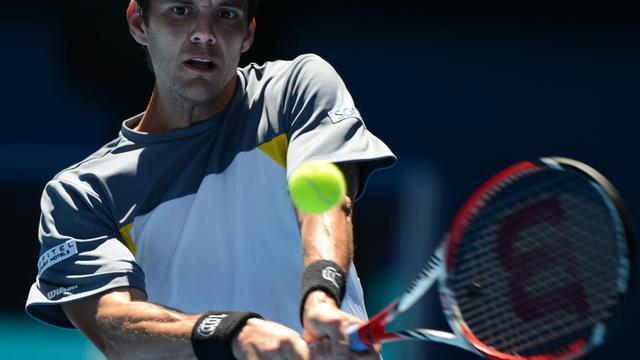 Paul-Henri Mathieu, lors de l'Open d'Australie, le 14 janvier 2013 à Melbourne [Greg Wood / AFP]