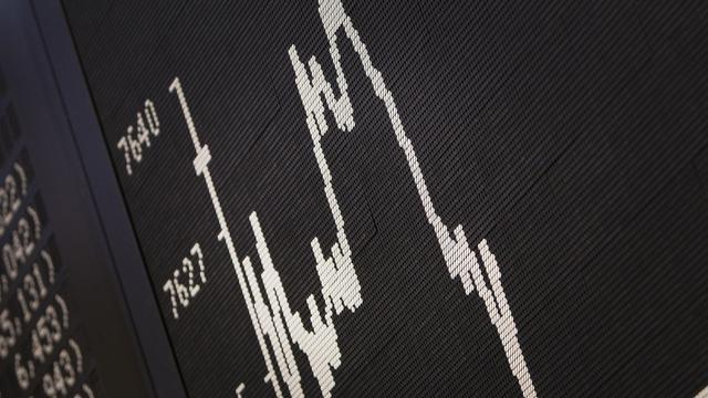 Courbe de l'indice Dax à la bourse de Francfort en Allemagne [Daniel Roland / AFP/Archives]