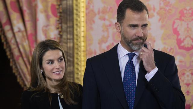 Le prince héritier d'Espagne Felipe et son épouse Letizia, le 13 février 2013 à Madrid [Dani Pozo / Pool/AFP/Archives]