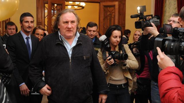 Gérard Depardieu à Moscou, le 22 février 2013 [Andrey Smirnov / AFP/Archives]