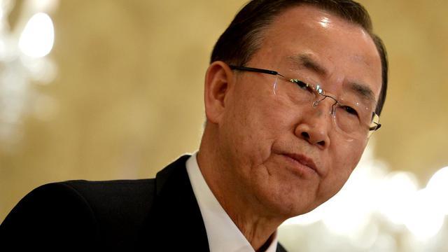 Le secrétaire général de l'ONU Ban Ki-Moon, le 9 avril 2013 à Rome [Alberto Pizzoli / AFP/Archives]