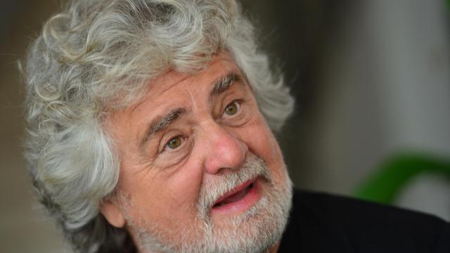 Le comédien et homme politique italien Beppe Grillo à Pordenone le 18 avril 2013 [Giuseppe Cacace / AFP/Archives]