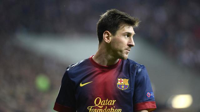 Le footballeur argentin du FC Barcelone Lionel Messi lors d'un match contre le Bayern Munich le 23 avril 2013 en Bavière [Pierre-Philippe Marcou / AFP/Archives]