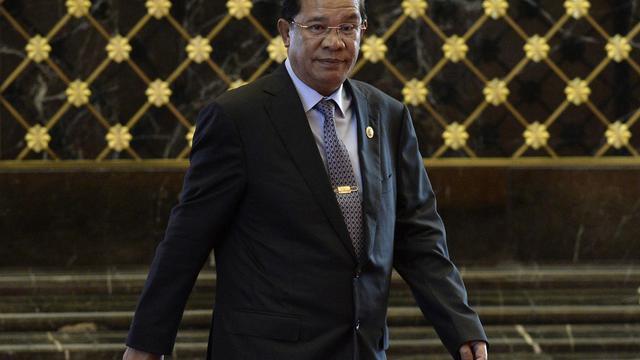 Le premier ministre cambodgien Hun Sen, à Bandar Seri Begawan, dans le sultanat de Brunei, le 25 avril 2013 [Philippe Lopez / AFP/Archives]