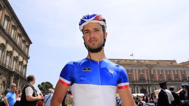 Nacer Bouhanni avant le départ de la 1re étape du Giro, le 4 mai 2013 à Naples [Luk Benies / AFP]