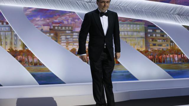 Le cinéaste roumain Cristian Mungiu, le 15 mai 2013 à Cannes [Valery Hache / AFP]