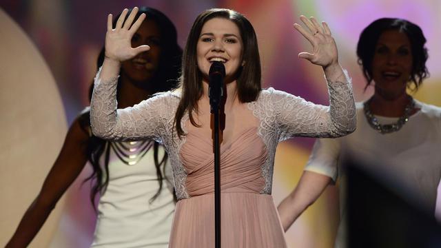La chanteuse russe Dina Garipova lors du concours de l'Eurovision, le 18 mai 2013 à Malmö en Suède [John Macdougall / AFP/Archives]