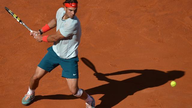 L'Espagnol Rafael Nadal lors de la finale du Masters 1000 de Rome, le 19 mai 2013 [Gabriel Bouys / AFP/Archives]
