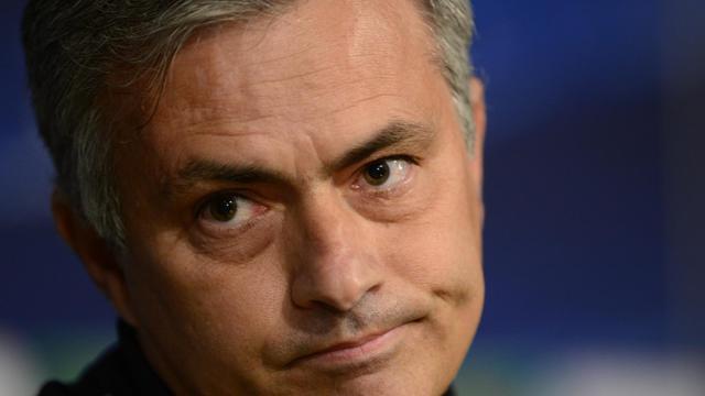 L'entraîneur du Real Madrid Jose Mourinho lors d'une conférence de presse à Madrid, le 2 avril 2013 [Javier Soriano / AFP/Archives]