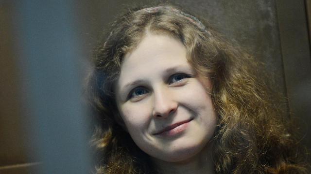Maria Alekhina, le 10 octobre 2012, lors de son procès à Moscou [Natalia Kolesnikova / AFP/Archives]