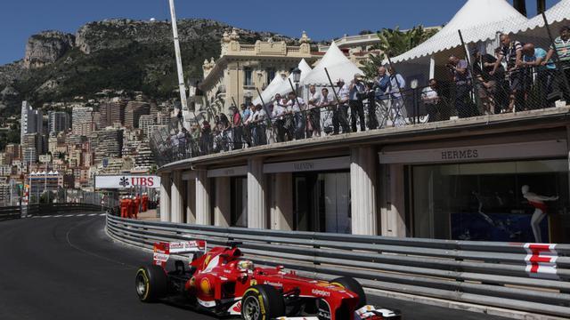 L'Espagnol Fernando Alonso (Ferrari) lors des essais libres du GP de Monaco, le 23 ami 2013 [Jean Christophe Magnenet / AFP/Archives]