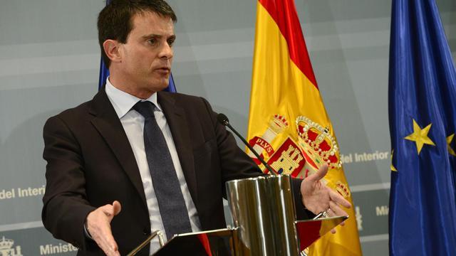 Manuel Valls lors d'une conférence de presse à Madrid le 24 mai 2013 [Javier Soriano / AFP]
