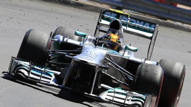 Le pilote britannique Lewis Hamilton de Mercedes lors du Grand Prix de Monaco, le 26 mai 2013 [Alexander Klein / AFP/Archives]