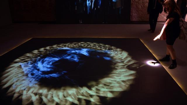 L'installation du pavillon du Saint-Siège à la biennale de Venise, le 29 mai 2013 [Gabriel Bouys / AFP]