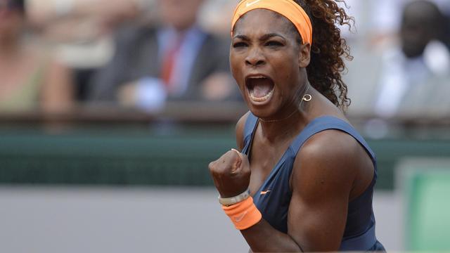 L'Américain Serena Williams pendant la finale du simple dames de Roland-Garros le 8 juin 2013 à Paris [Miguel Medina / AFP]