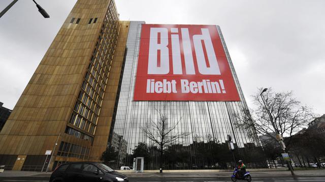 Le siège du groupe Axel Springer, propriétaire du quotidien allemand Bild, à Berlin [John Macdougall / AFP/Archives]