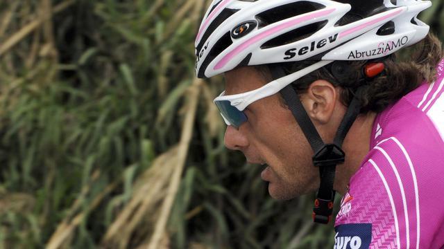 Le cycliste italien Danilo di Luca lors de la 20e étape du 92e Tour d'Italie, le 30 mai 2009, entre Naples et Anagni [Damien Meyer / AFP/Archives]