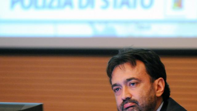 Alessandro Giuliano, chef de la police judiciaire de Milan, le 9 juin 2009 à Rome [Tiziana Fabi / AFP/Archives]