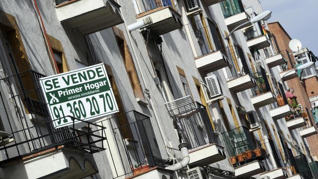 Un appartement en vente à Madrid [Dominique Faget / AFP/Archives]