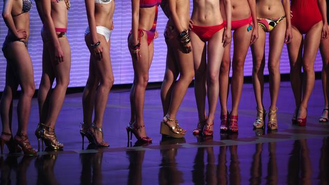 Les organisateurs d'un concours de beauté en Chine ont suscité une fronde sur l'internet en raison de leurs critères de sélection des candidates, qui doivent par exemple avoir leurs mamelons distants d'au moins 20 centimètres. [AFP]