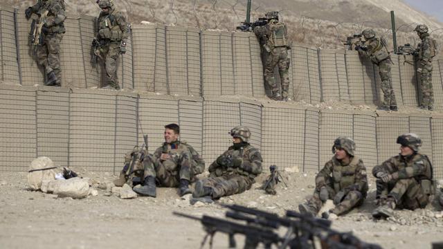 Des soldats français sur la base de Tagab, dans l'est en janvier 2011 [Joel Saget / AFP/Archives]