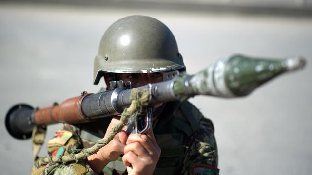 Un soldat afghan [Johannes Eisele / AFP/Archives]