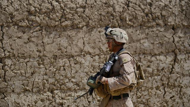 Un Marine américain, dans la province d'Helmand, en Afghanistan [Adek Berry / AFP/Archives]