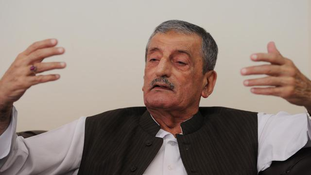 Ghulam Ahmed Bilour dans son bureau d'Islamabad le 25 septembre 2012 [Aamir Qureshi / AFP]