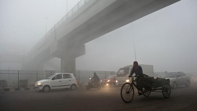 Un nuage de pollution à New Delhi, le 31 janvier 2013 [Prakash Singh / AFP/Archives]