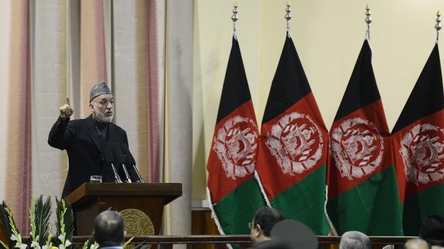 Le président afghan Hamid Karzaï, le 16 février 2013 à Kaboul [ / AFP]