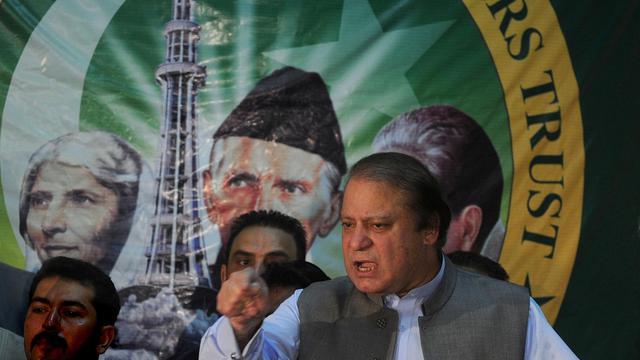 Le futur Premier ministre du Pakistan, Nawaz Sharif, à Lahore le 28 mai 2013 [Arif Ali / AFP/Archives]