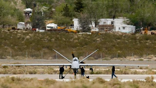 Un drone MQ-9 Reaper, le 16 avril 2009 sur une base aérienne dans le Nevada [Ethan Miller / Getty Images/AFP/Archives]
