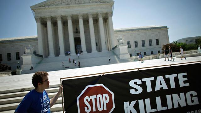 Manifestation conte la peine de mort devant la Cour Suprême à Washington, en juin 2009 [Chip Somodevilla / Getty Images/AFP/Archives]