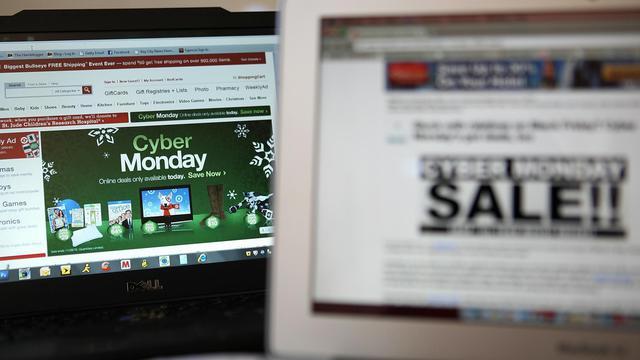 Publicité pour des soldes sur internet [Justin Sullivan / Getty Images/AFP]