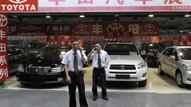 Un concessionnaire Toyota à Pékin le 9 septembre 2012 [Liu Jin / AFP/Archives]