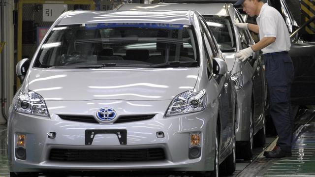 Une chaîne d'assemblage de la voiture hybride Prius, dans une usine de Toyota, à Toyota le 5 juin 2009 [Toshifumi Kitamura / AFP/Archives]