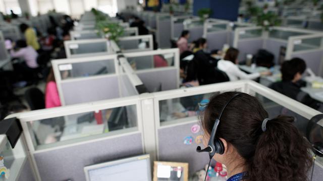 Un centre d'appels [Andrew Ross / AFP/Archives]