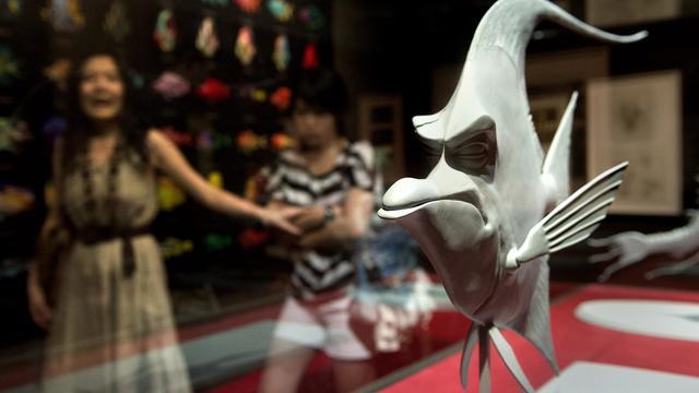 """La maquette d'un personnage du film """"Le Monde de Nemo"""" lors d'une exposition des studios Pixar à Shanghai, le 2 août 2011 [Philippe Lopez / AFP/Archives]"""