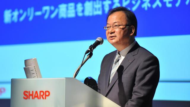 Le président du groupe Sharp lors d'une conférence de presse le 8 juin 2012 à Tokyo [Kazuhiro Nogi / AFP/Archives]
