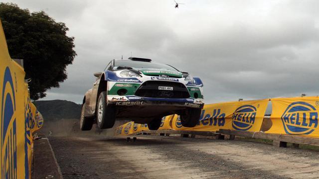 Le Finlandais Jari-Matti Latvala au volant de sa Ford au rallye de Nouvelle-Zélande le 23 juin 2012 autour d'Auckland [Michael Bradley / AFP/Archives]