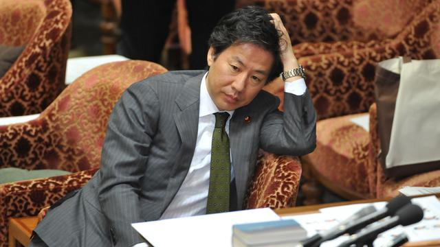 Le ministre japonais des Finances, Jun Azumi, le 26 juin 2012 devant une commission parlementaire à Tokyo [Kazuhiro Nogi / AFP/Archives]