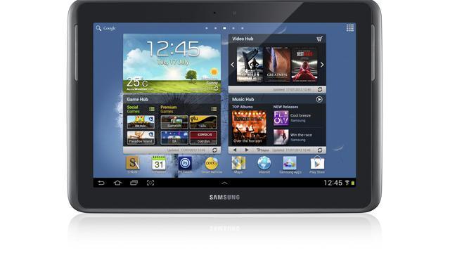 Le géant sud-coréen de l'informatique Samsung lance mercredi sur le marché américain une nouvelle tablette tactile, baptisée Galaxy Note 10.1, une nouvelle attaque contre le leader de ce marché Apple.[SAMSUNG ELECTRONICS]
