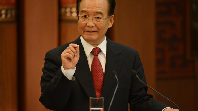 Le Premier ministre chinois Wen Jiabao, le 30 août 2012 à Pékin [Mark Ralston / AFP/Archives]