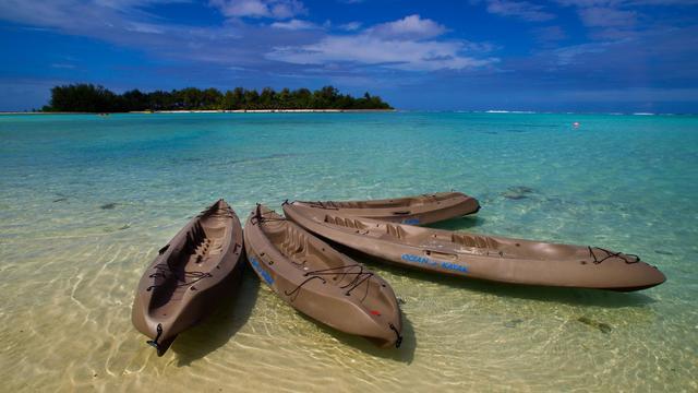 Sur une plage des îles Cook [Marty Melville / AFP/Archives]