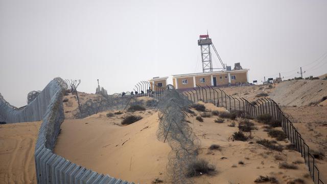 La frontière israélo-égyptienne dans le Sinaï, photographiée le 6 septembre 2012 [Menahem Kahana / AFP/Archives]