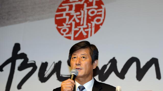 Le directeur du Festival international du film de Busan, Lee Yong-Kwan, en conférence de presse le 10 septembre 2012 [Jung Yeon-Je / AFP/Archives]